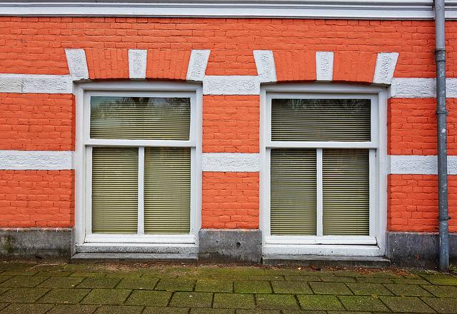 Facade, House, Front, Brick, Window, Townhouse, Urban