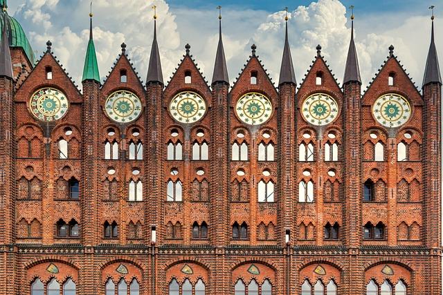 Town Hall, Stralsund, Facade, Brick, Historically