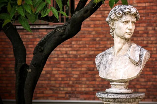 Loyola University Chicago, Bust, Roman, Tree, Brick