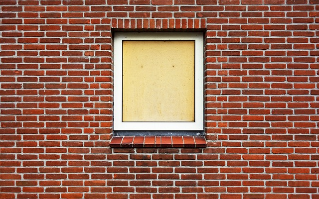 Window, Boarded Up, Boarded Up Window, Brick Wall, Wall