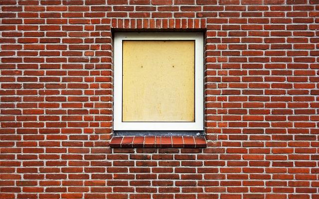 Window, Boarded Up, Boarded Up Window, Brick Wall, Wall