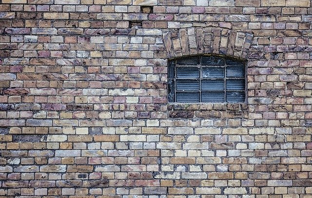 Window, Wall, Old, Building, Stone, Bricks, Texture