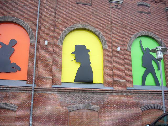 Udo Lindenberg, Pop, Hauswand, Bricks, Silhouette, Art