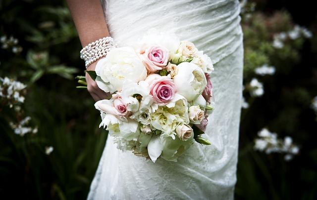 Wedding Bouquet, Flowers, Roses, Bridal, Wedding