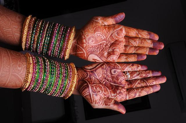 Mehandi, Bridal, Indian Girl, Hand, Bangles