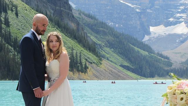 Newlyweds, Getting Married, Bride, Groom, Wedding
