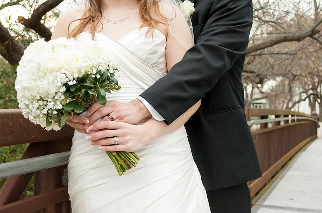 Bride Groom, Bouquet, Bride, Wedding, Groom, Love