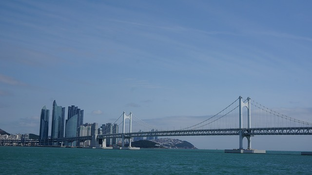 Bridge, Gwangan Bridge, Gwangalli, Busan, Sea