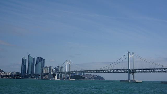 Bridge, Gwangan Bridge, Gwangalli, Busan, Sea