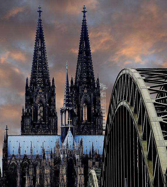 Cologne Cathedral, Hohenzollern Bridge, Arches, Bridge