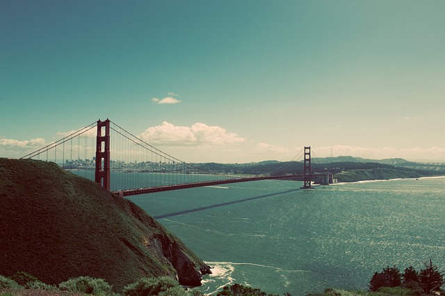 Bridge, Golden Gate Bridge, Ocean, Sea