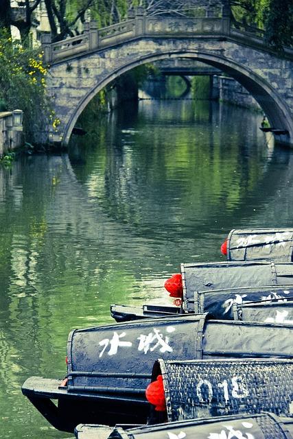 Bridge, Ship, Watertown, Green, Ripple
