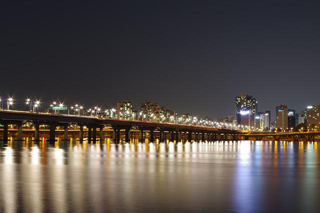 Han River, Night View, Night Photography, Seoul, Bridge