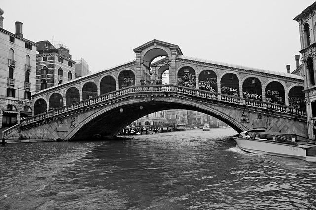 Venice, Bridge, Rialto, City, Grand Canal, Houses