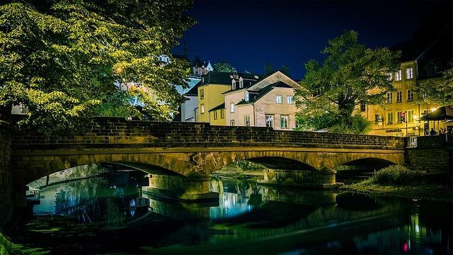 Bridge, Luxembourg, City, Old Bridge, River, Houses