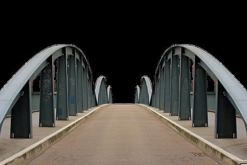 Bridge, Fulda, Steel Structure, Iron, Road, Arch Bridge