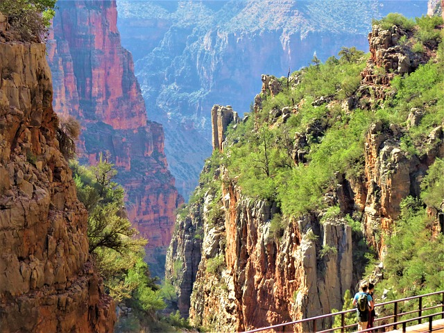 Grand Canyon, Bridge, Gorge, Dramatic, Landscape