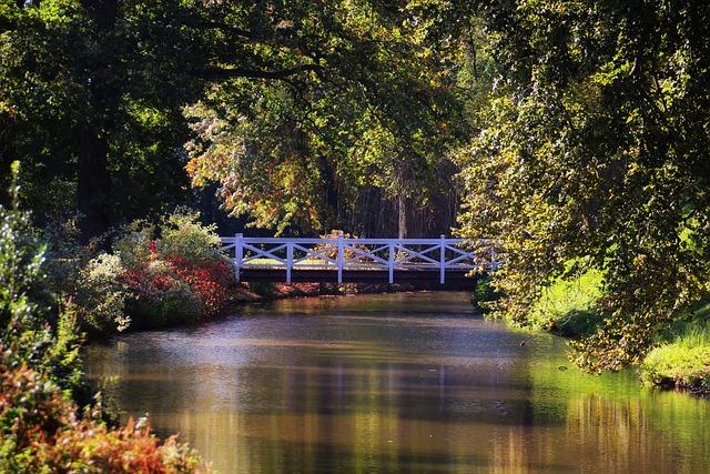 Bridge, River, Landscape, Romantic, Nature, Water