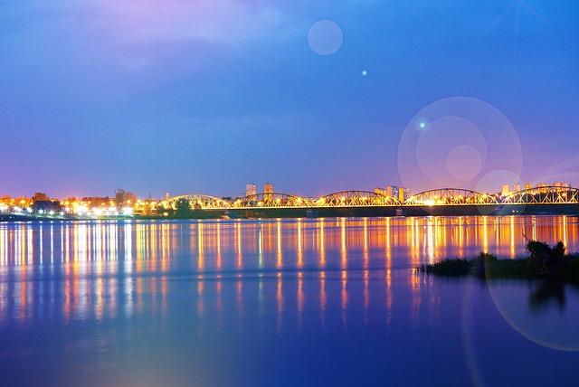 Landscape, River, Wisla, Bridge, The Wave Is Reflected