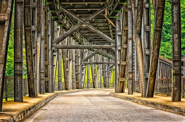 Bridge, Iron, Architecture, Metal, Steel Structure