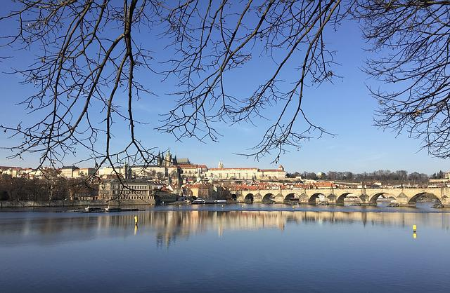 Prague, Bridge, Moldova, Czech Republic, River