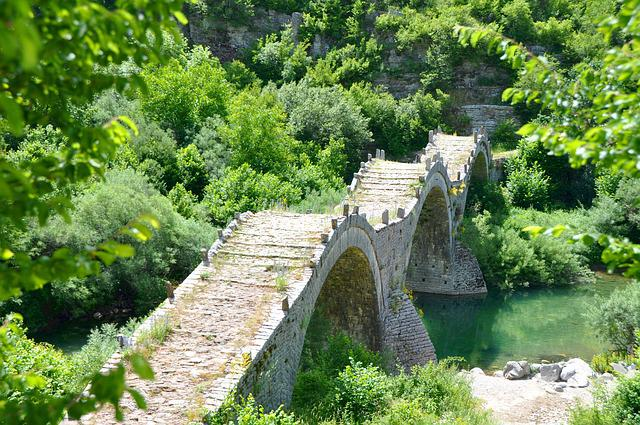 Bridge, Stone Arch Bridge, Nature Park Villa Aoos