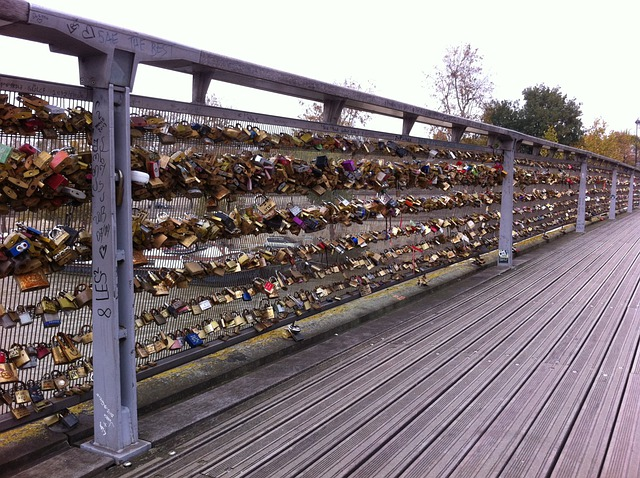 Love, Bridge Of Love, Locks Bridge, Paris