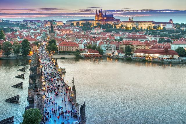 Prague, Architecture, Bridge, Buildings, Castle, Church