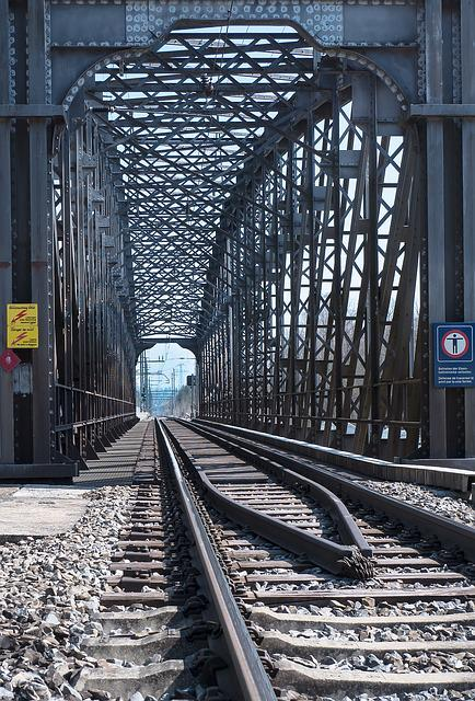 Railway Line, Railway, Bridge, Viaduct, Rails, Route