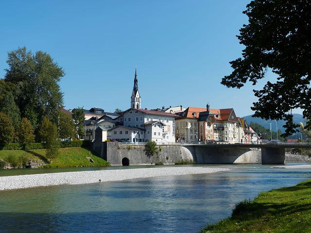 Bridge, Isar, Bad-tölz, Bavaria, Germany, River, Rapids
