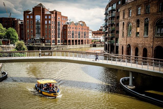 Bristol, Harbour, Ferry, River, Bridge, Footbridge
