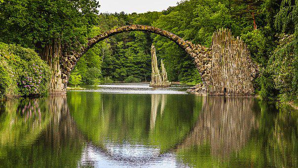 Bridge, Romance, Fantasy, Romantic, Water, Architecture