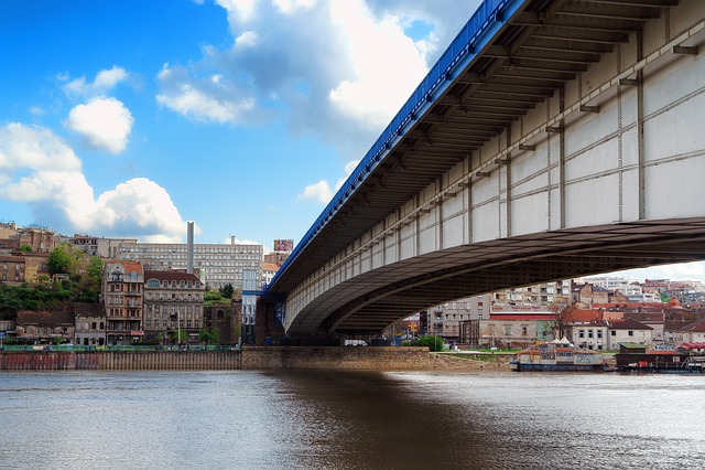 Bridge, Belgrade, Serbia, Beograd, Architecture, Travel