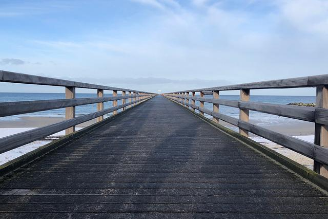 Sky, Bridge, Waters, Horizontal, Travel, Sea