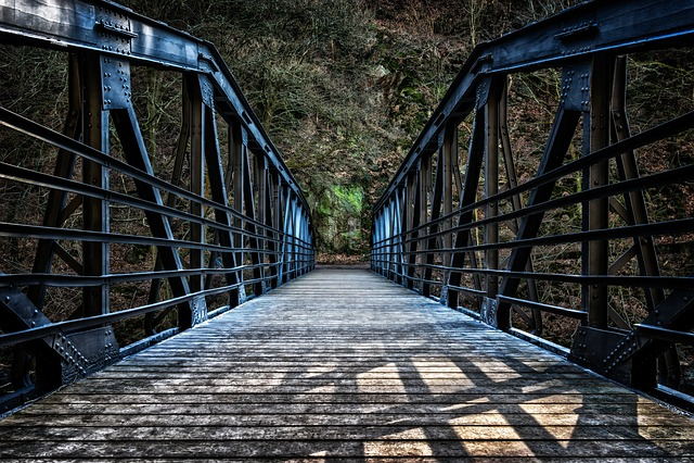 Bridge, Iron, Old, Pedestrian, Metal, Steel, Germany