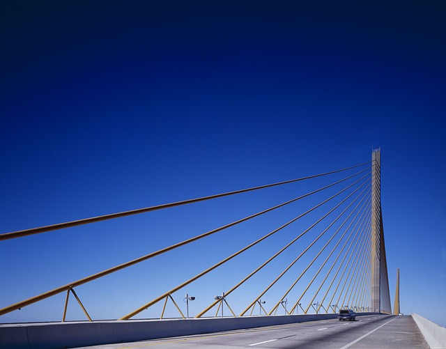Bridge, Suspension Bridge, Sunshine Skyway, Tampa Bay