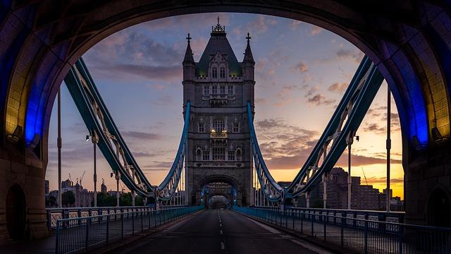 London, Tower Bridge, Bridge, England, Sunrise