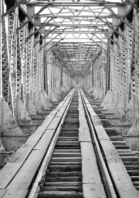 Bridge, Trail, Railway Bridge, Train