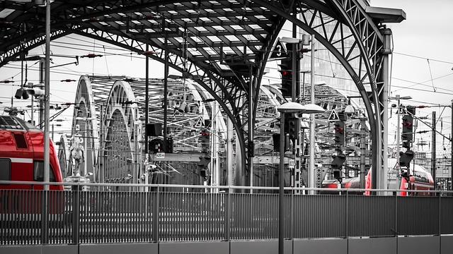 Railway Station, Bridge, Train, Railway, Travel