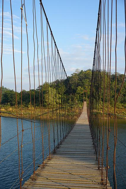 Bridge, Thailand, Water, Perspective, Travel
