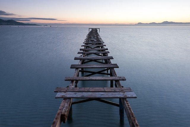 Water, Sea, Bridge, Alcúdia, Coast, Vacations