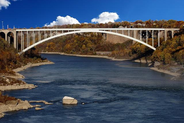 River, Bridge, Niagara, Landmark, Water, Tourism