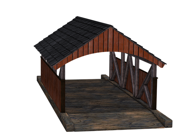 Bridge, Wooden Bridge, Passage, Wooden Roof, Boards