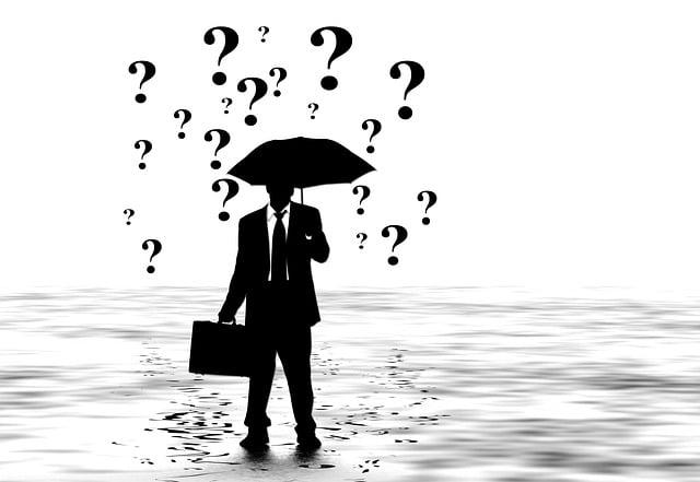 Man, Silhouette, Briefcase, Umbrella, Screen, Business