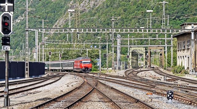 Station Entrance, Brig West, Sbb, Bls, Rhônebrücken