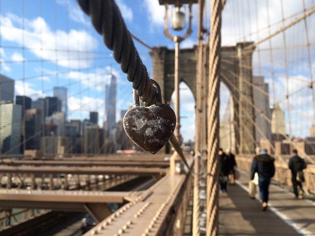 Lock, Love, Brigde, Manhattan, City
