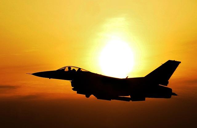Sunrise, Airplane, Sky, Fighter, Sun, Bright, Jet