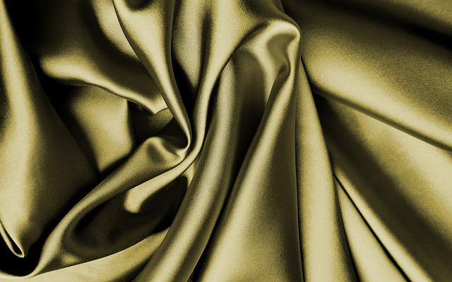 Fabric, Silk, Gold, Bright, Cloth, Tissue, Substances