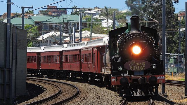 Brisbane, Train, Steam, Travel, Australia