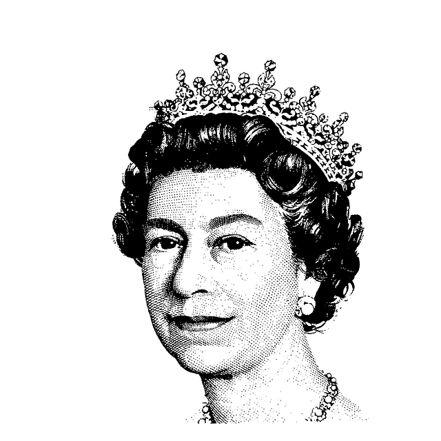 Britain, British, Elizabeth, Halftone, Ii, Monarch